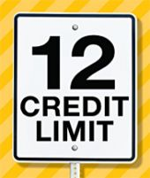 street sign that says 12 credit limit