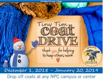 Poster advertising coat drive