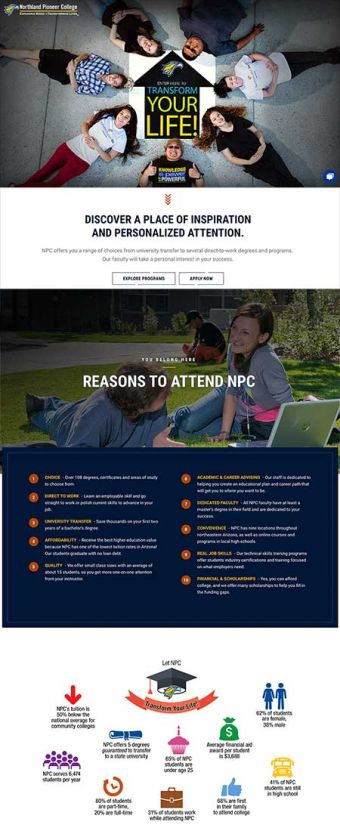 Student Microsite Front Page
