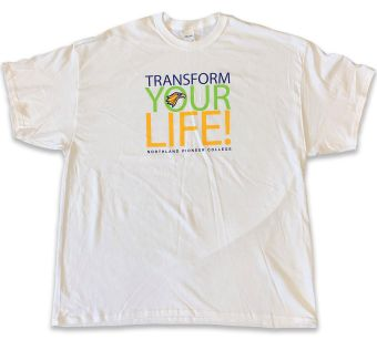 transform your life white t-shirt