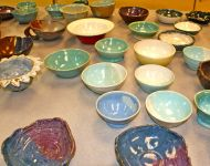 Empty Bowls from the 2019 event