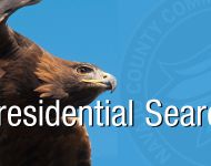 golden eagle with college seal