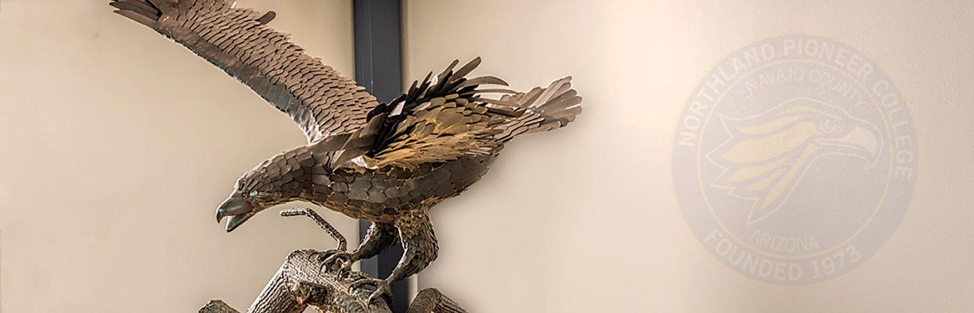 golden eagle statute created by NPC welding students
